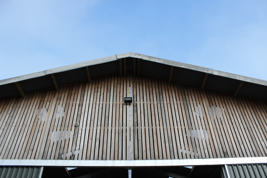 Steel-framed building clad in Swedish Larch